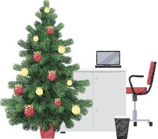 Juletræer til kontoret