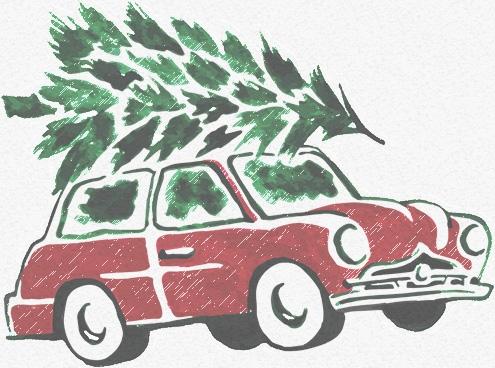 levering af juletræ til døren